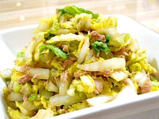 白菜の簡単めんつゆサラダ♪2-3