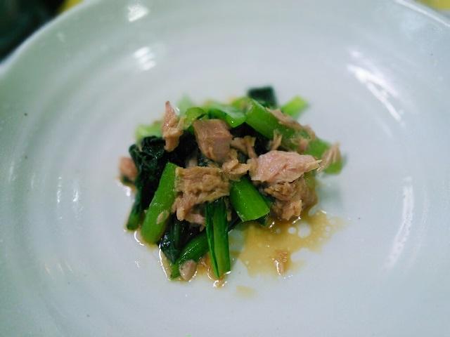 小松菜とシーチキン煮