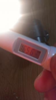 非接触温度計のテスト
