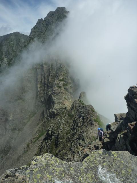 7)間ノ岳へ向かう