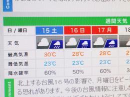 天気が・・・
