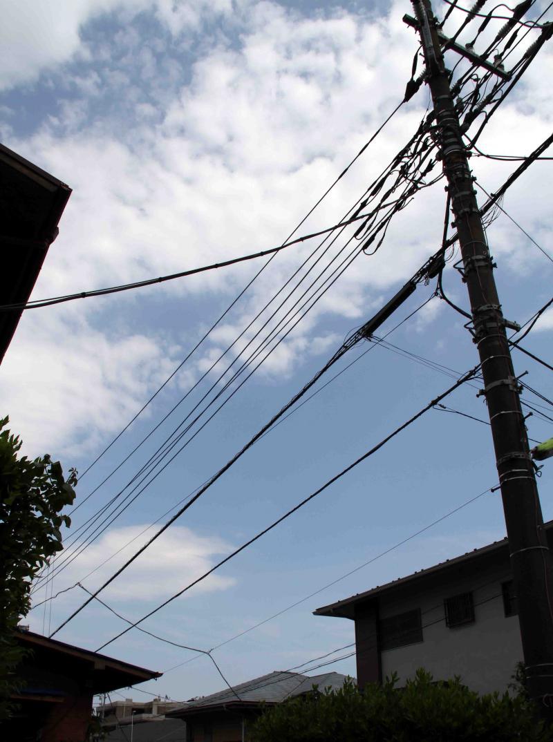 5月28日の上空寒気と雷雲(4) 南東の空