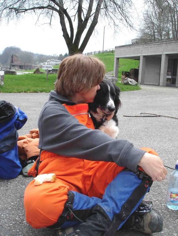 スイス・ベルン郊外の訓練施設 昼食にて(2)