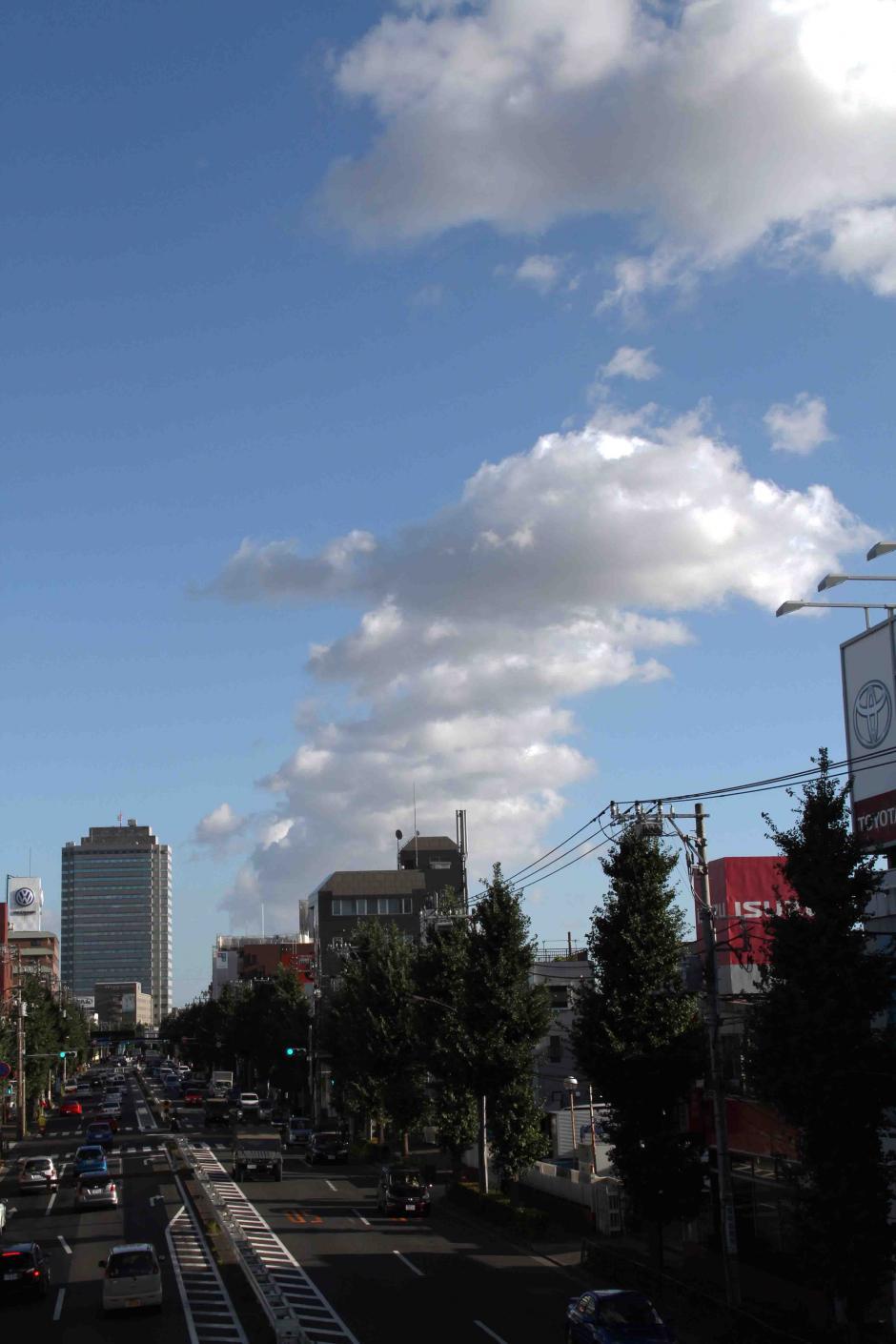 環八雲 20120819(3) 16時50分 笹目通り土支田付近から谷原方面