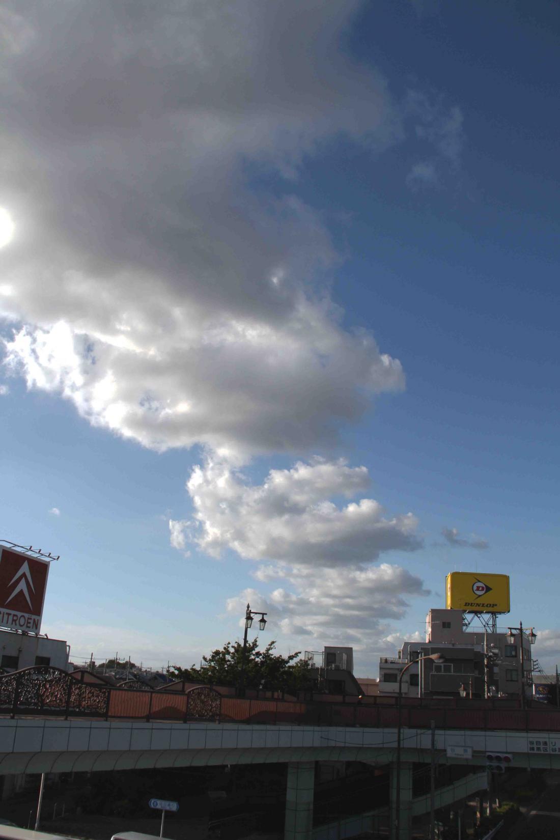 環八雲 20120819(8) 17時05分 谷原付近から和光方面