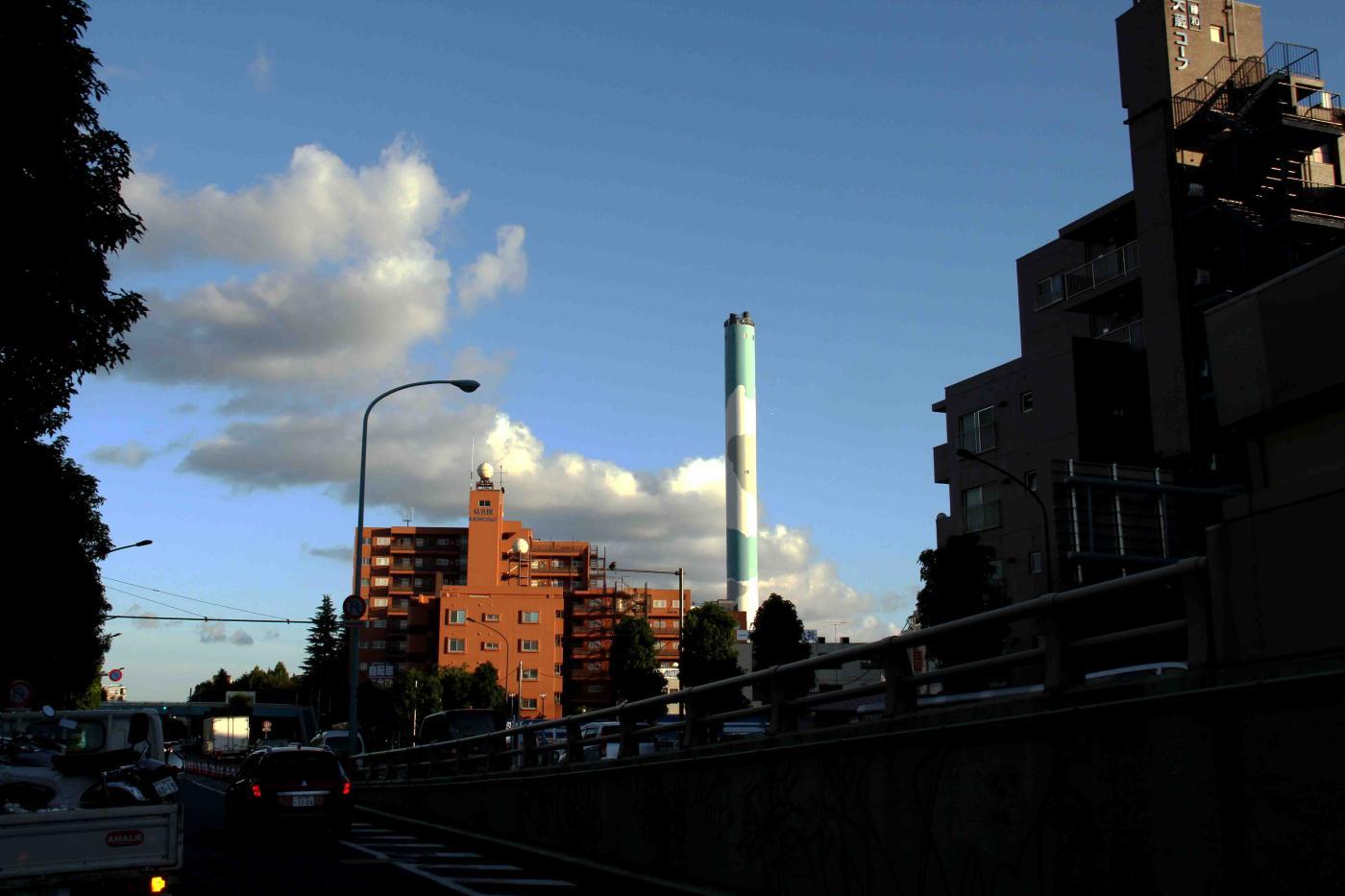 環八雲 20120819(15) 17時48分 世田谷通り付近から南方面