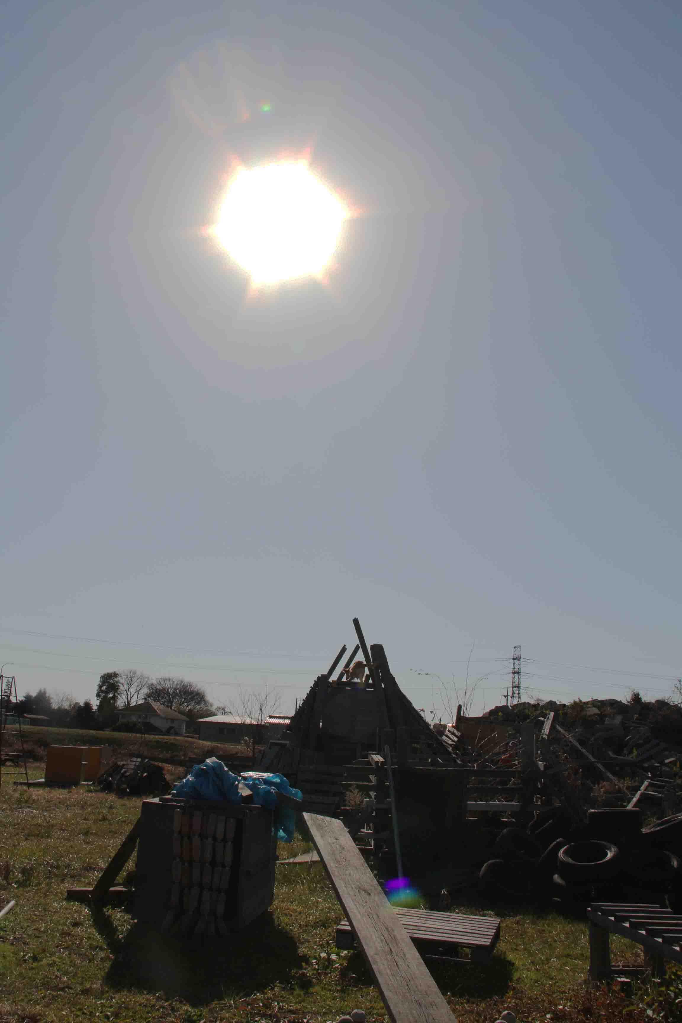 冬至5日前の太陽(ほぼ南中)(12時05分)