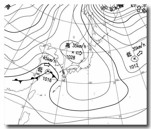 地上天気図 12122109 アレンジ