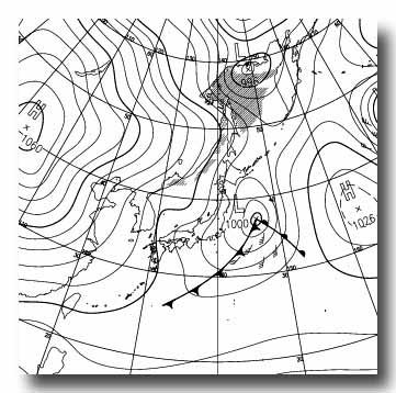 予想天気図 12122021 アレンジ