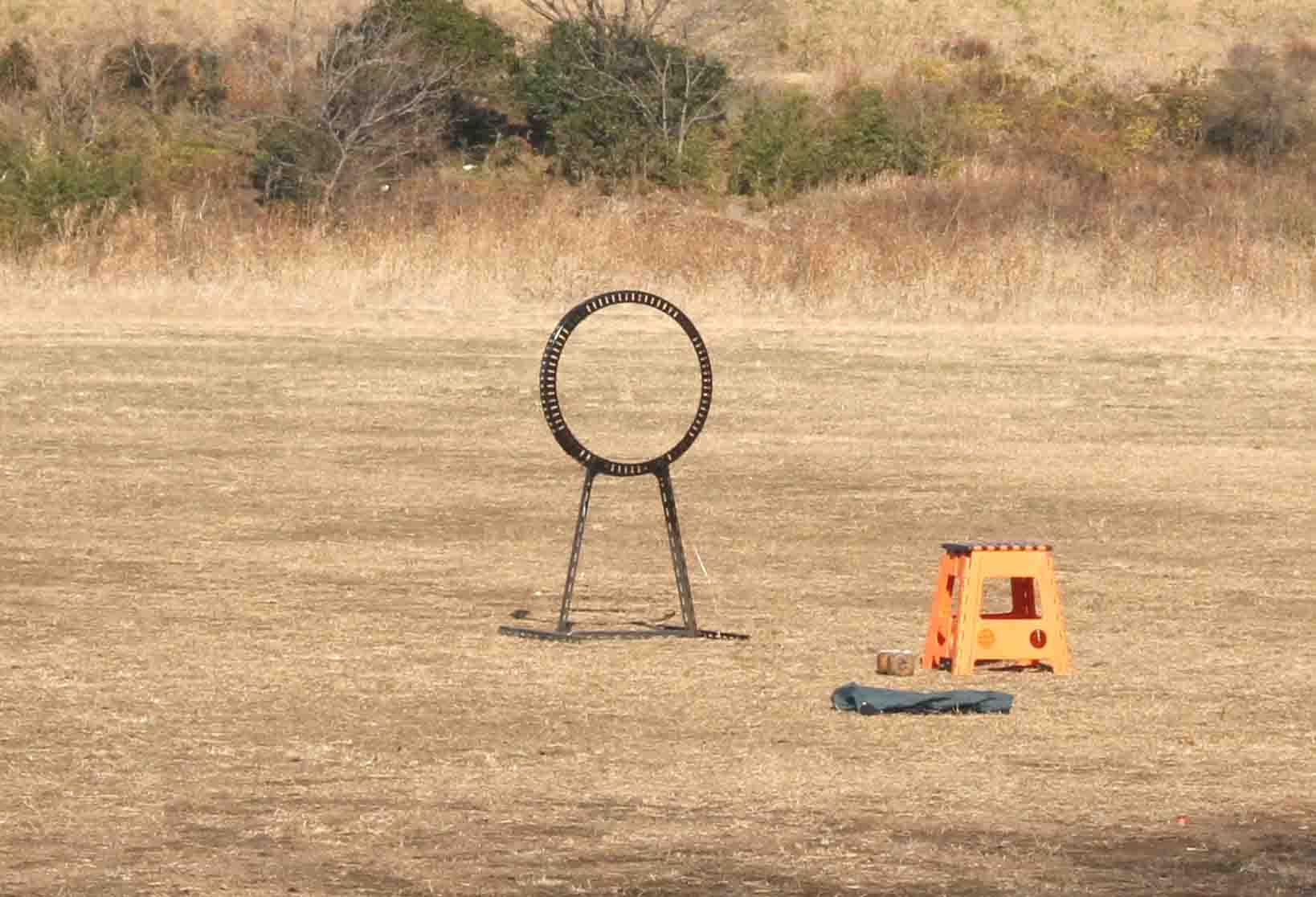 準備した輪を設置