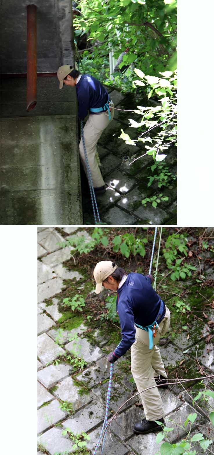 7月15日 三峰川 懸垂下降(1)