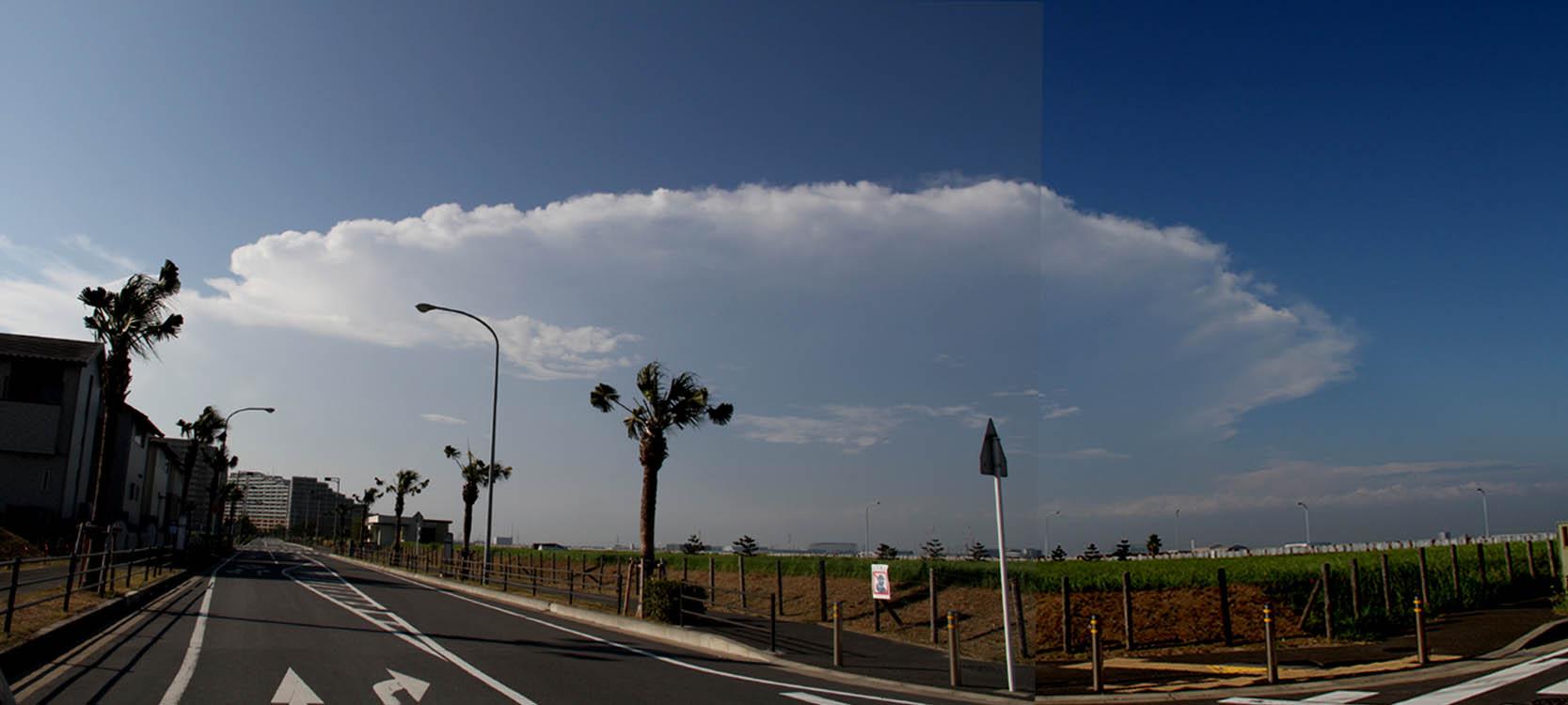 9月1日の関東中部の大雨とカナトコ雲(4)