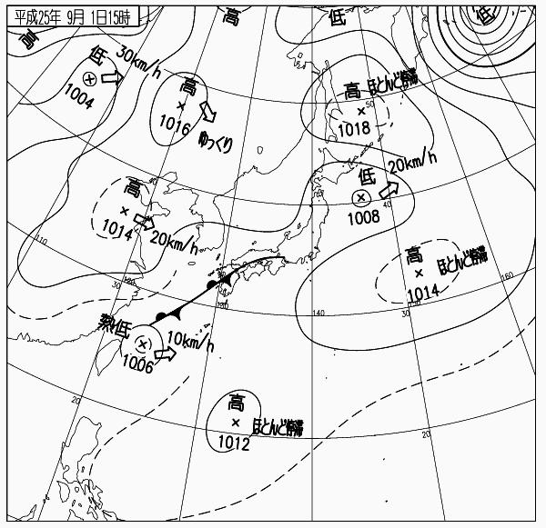 天気図 13090115