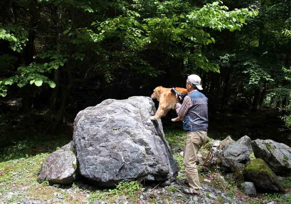 7月15日 三峰川 いつものお立ち台で(4)