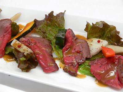 【SECOND HOUSE will】2012.11.1~15 ランチB_前菜 ローストビーフと彩り野菜のピクルス 山葵のソース