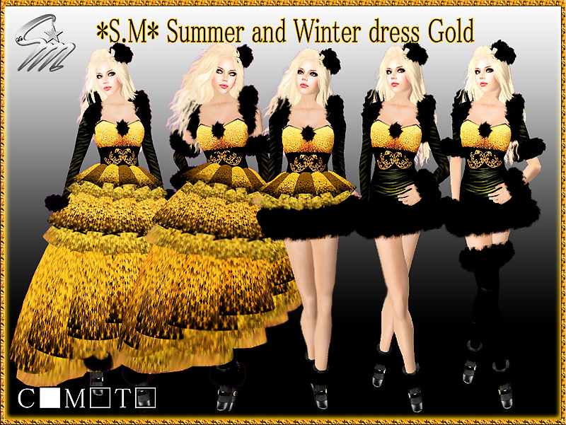 Summer and Winter dress Gold2_800
