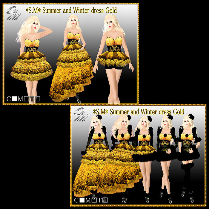 Summer and Winter dress Gold700