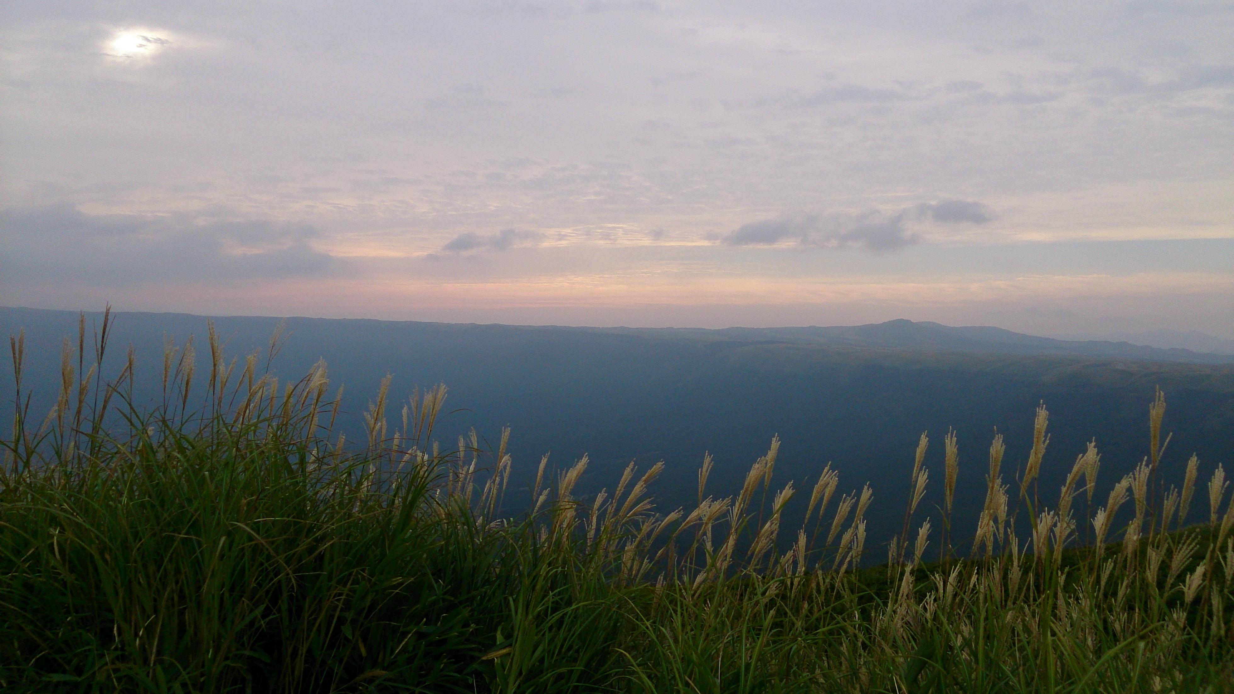 大観峰から西の空を