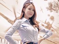韓国美女 Park Eun Bin 制服画像