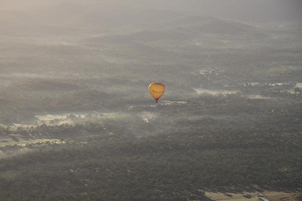 気球(上空)