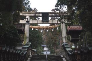 宝山寺-鳥居