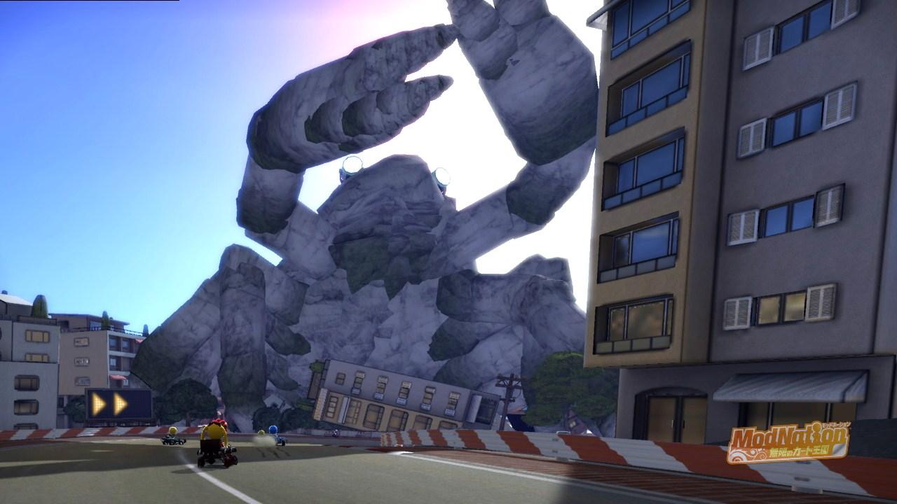 巨大なカニが町を破壊し尽くす・・・・・