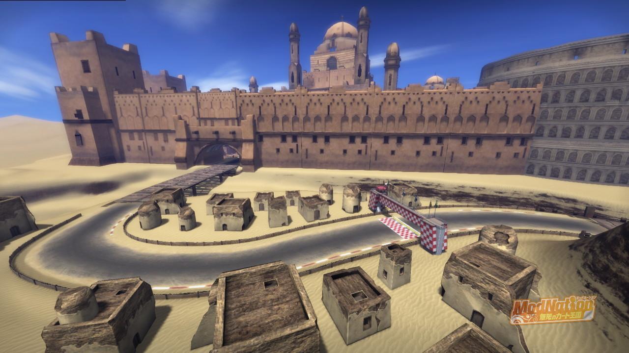 レース中は城のほぼ全体像が見れないのが残念