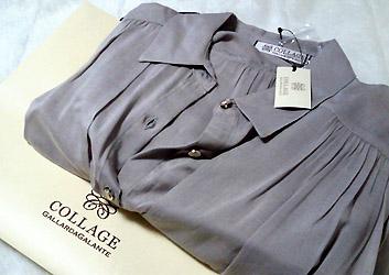 春にも着れる、グレーのシャツ