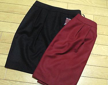 通勤用のスカート、尻デカには有難いコクーン型です