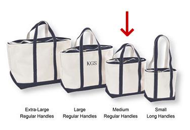 「L.L.Bean」のトートバッグ。Mサイズを購入。