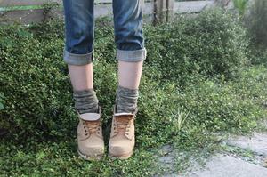 綿スラブリブ靴下
