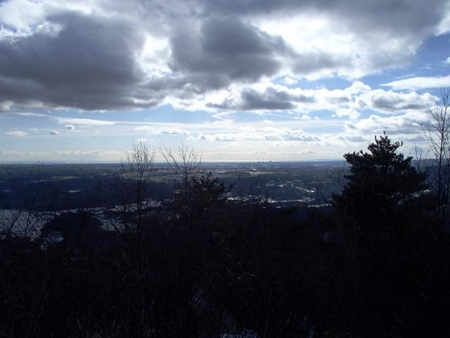 撫倉山頂から東