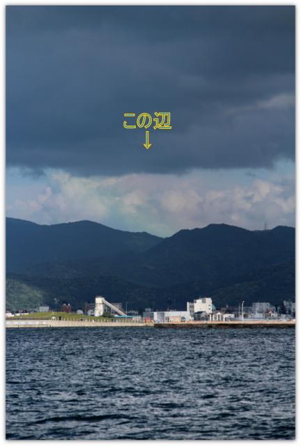 青森 港 埠頭 虹
