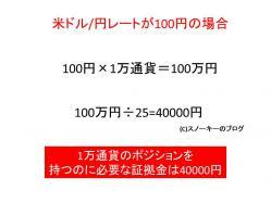 FX ドル円 必要資金