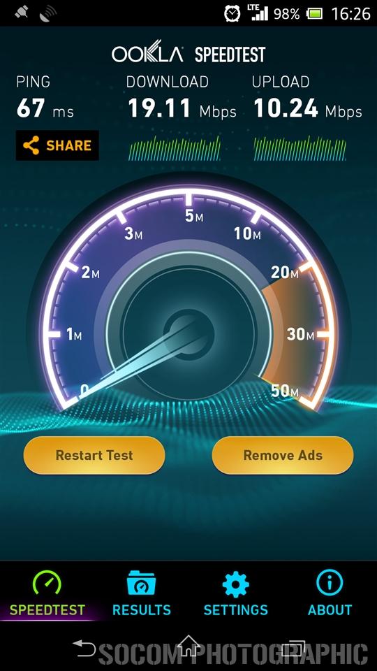 au LTE Speedtest