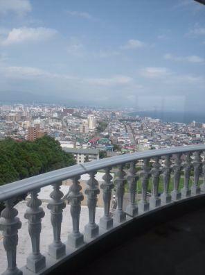 パノラミックから見た函館の街