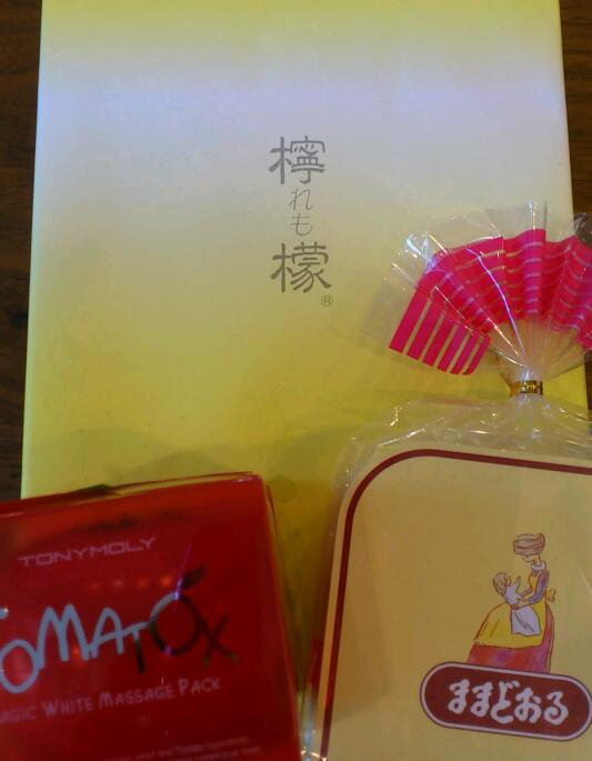 福島県土産の「檸檬」と「ままどおる」と「TOMATOX」