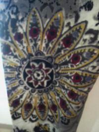 レギンス花柄ペイズリー