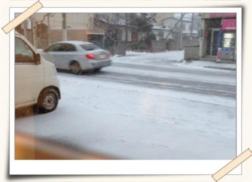 雪で白くなったソンリサ前