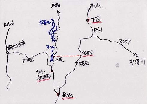 マンガ地図・ささゆりトンネル