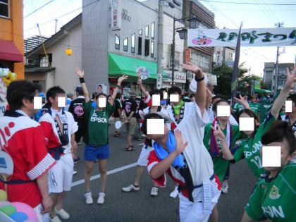 伊那まつり市民踊り(南信ペーニャ連&長野銀行連)120804 006