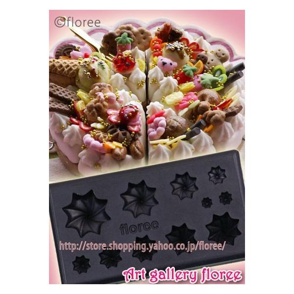 ミニスイーツデコ用 スイーツシリーズ Lovely Sweets ぷっくり ホイップ A (粘土型抜き)