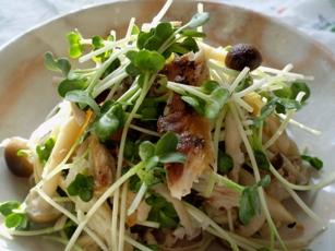 秋刀魚ときのこのさっぱりサラダ
