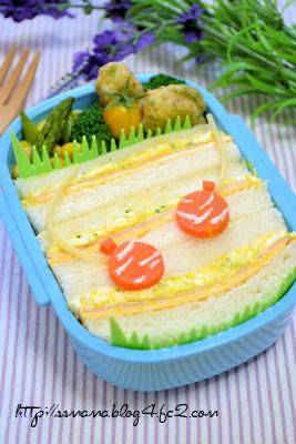 ヨーヨーすくいのサンドイッチ弁当