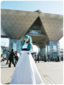 ミク姫様の記念撮影 at ▽前
