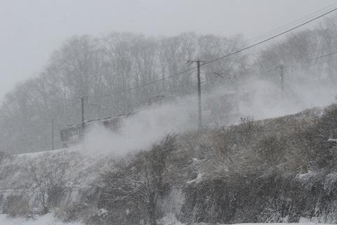 しなの鉄道115系 広告車(雪煙)