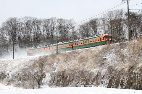 しなの鉄道169系(湘南色) 急行志賀2号