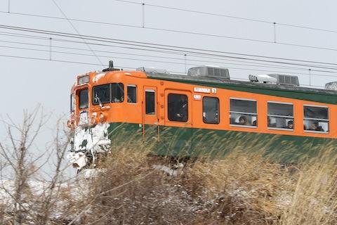 しなの鉄道169系湘南色(急行志賀1号)