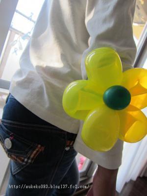 元気カラーの風船のお花!