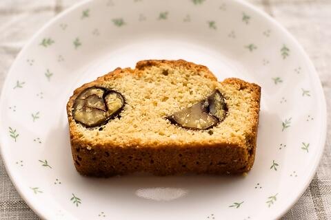栗の渋皮煮ケーキ断面